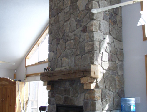 New floor to ceiling wood burning fireplaces